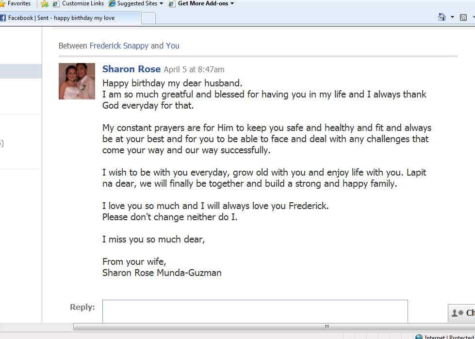 Happy Birthday Message To Husband On Facebook